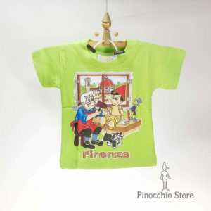 t-shirt pinocchio green