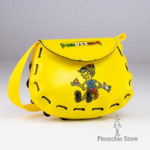 borsetta gialla in pelle