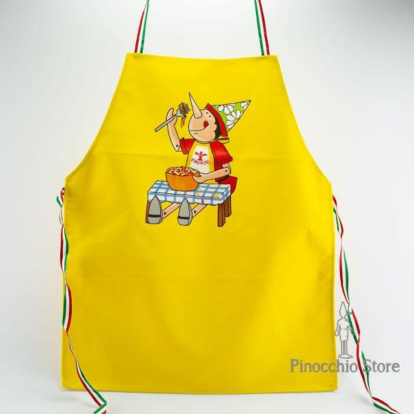 grembiule da cucina pinocchio giallo