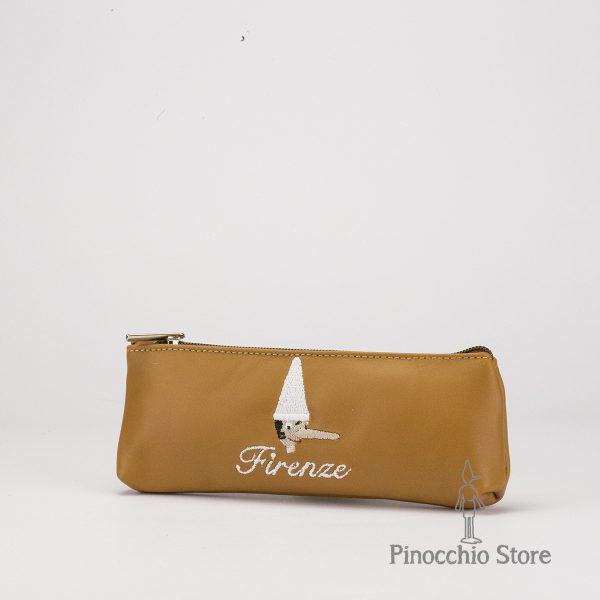 Porta penna di Pinocchio colore marrone