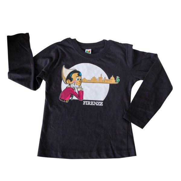 T-shirt Pinocchio Skyline manica lunga